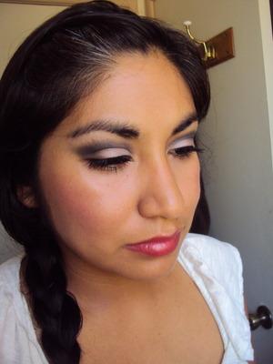 Smokey eye - Pretty Addictions mineral eyeshadows in Silver Screen and Narcisstic.