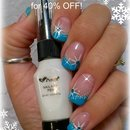 Winter star and snow nails
