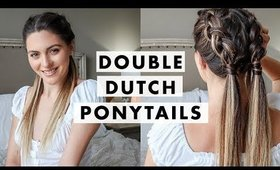 How To: Double Dutch Ponytail Braids