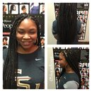 Medium box braids...