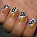 Gold Glam Zebra