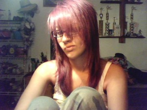 once upon a time.... I had purple hair