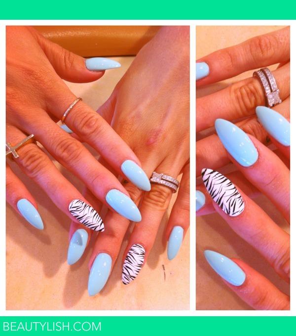 Zebra Stiletto Nails Trisha B S Photo Beautylish
