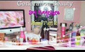 #GenBeautySF Haul Part 2   Beauty by Pinky