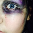 I did Halloween eye makeup