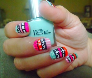 Not my nails but im in love with aztec