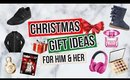 Christmas Gift Ideas for HIM & HER + GIVEAWAY   Jessica Chanell