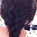 French braid with layers