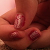Silver crackle with red