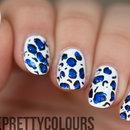 Electric Blue Foil Leopard Print