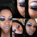 Purple And Blue Smokey Eye