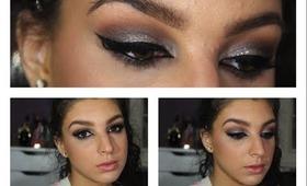 Prom Makeup Tutorial | Glittery Cat Eye ♥