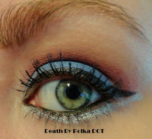 Look inspired by the NHL's Colorado Avalanche using BH Cosmetics Galaxy Palette.  Step-by-step tutorial @ http://bit.ly/1mY2F9w