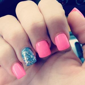 pink&blue sparkles.