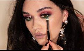 Drama and  Colors. Smokey Green makeup