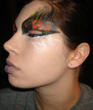 paint splatter look