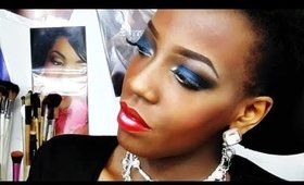 Tuto maquillage Bleu Royal