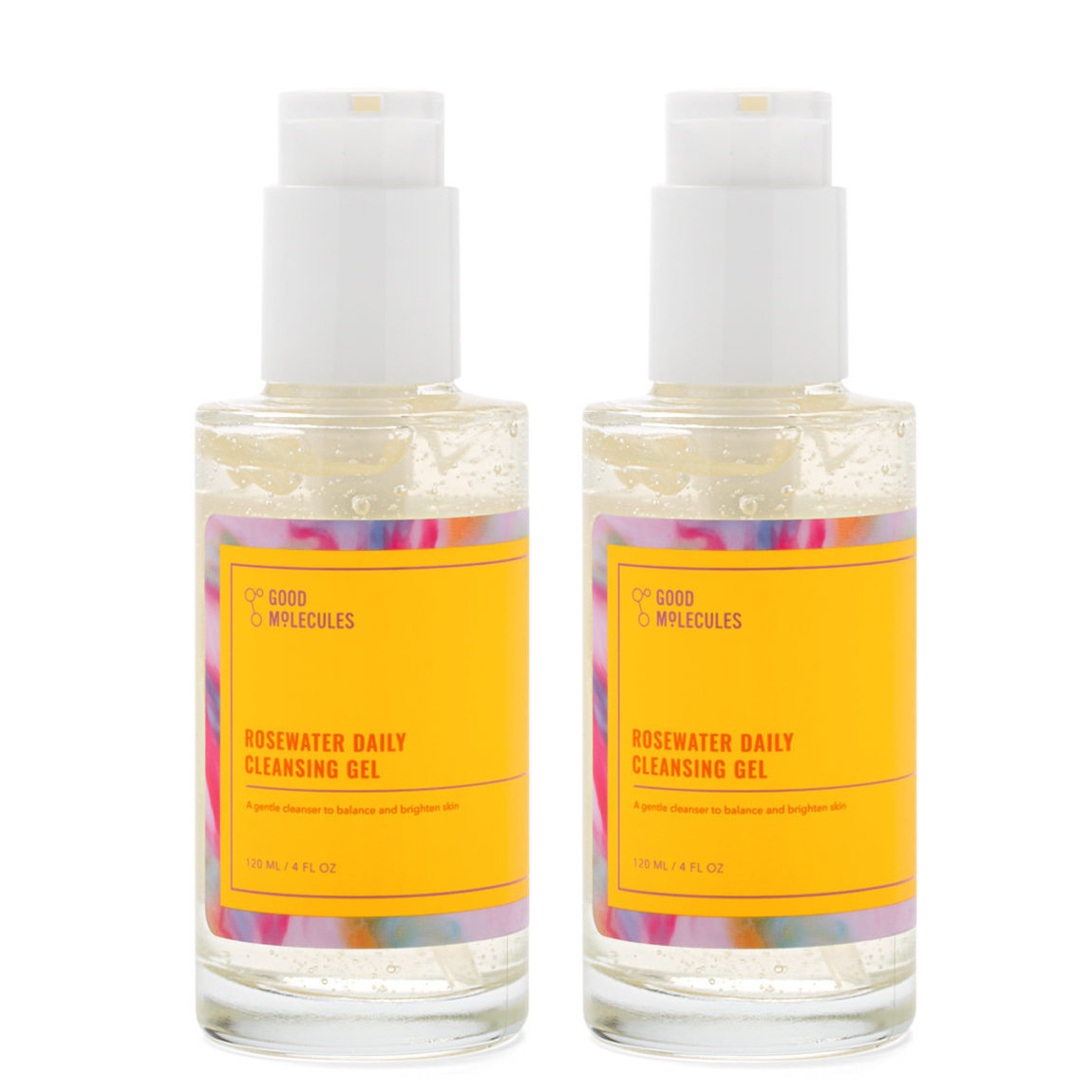 Good Molecules Rosewater Daily Cleansing Gel Duo alternative view 1 - product swatch.
