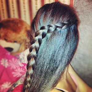 Enhanced waterfall braid