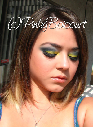 San Diego Chargers Inspired tutorial