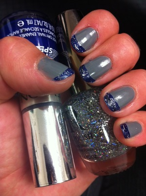 Revlon Top Speed, #730 Royal layered with CR sparkles #14