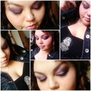 April 12th dinner date with the Mr. Purple glamish look, with my new fav halter from Torrid :)