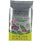 Physicians Formula Organic Wear 100% Natural Origin Eye Makeup Remover Towelettes Soft Pack