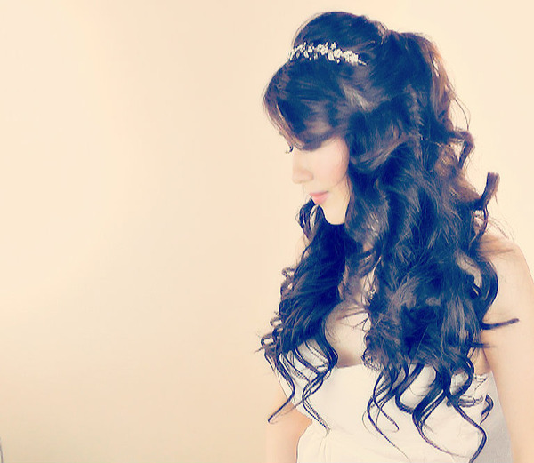 Lush Princess Curly Hairstyle Tutorial For Long Hair