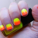 Neon Ombre/Gradient Nails