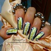 Gold and Silver Abstract nail Design