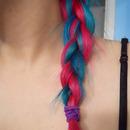 multi colored braid