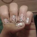 Rainbow Glittery Nails