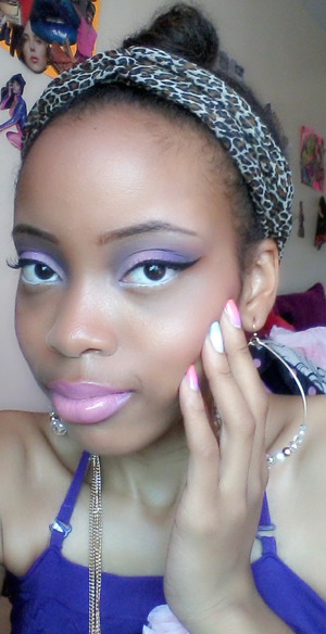 A fun look I created with lilacs, pinks and purples.