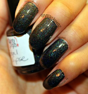 Different shot of Dainty Digits Polish Total Eclipse.  ♥_♥
