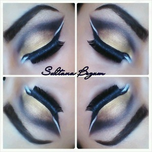 Smokey golden eyes. Follow me in Instagram for more looks @sullymalik
