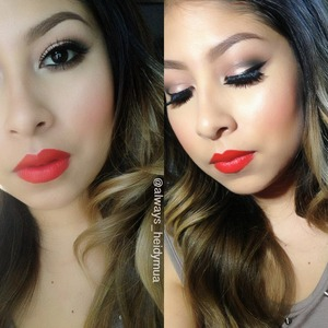 Khroma beauty in retro red on My lips