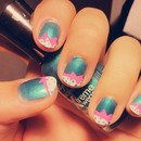 Cute bow nail design <3