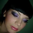 Purple smokey eys