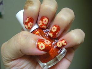 Hard Candy Lava and fimo flowers from Sally Beauty
