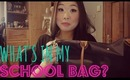 What's In My {Longchamp Le Pliage} School Bag? ♥