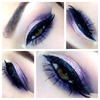 Purple and glitter smoky