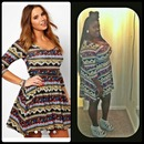 Mexican print dress OOTN