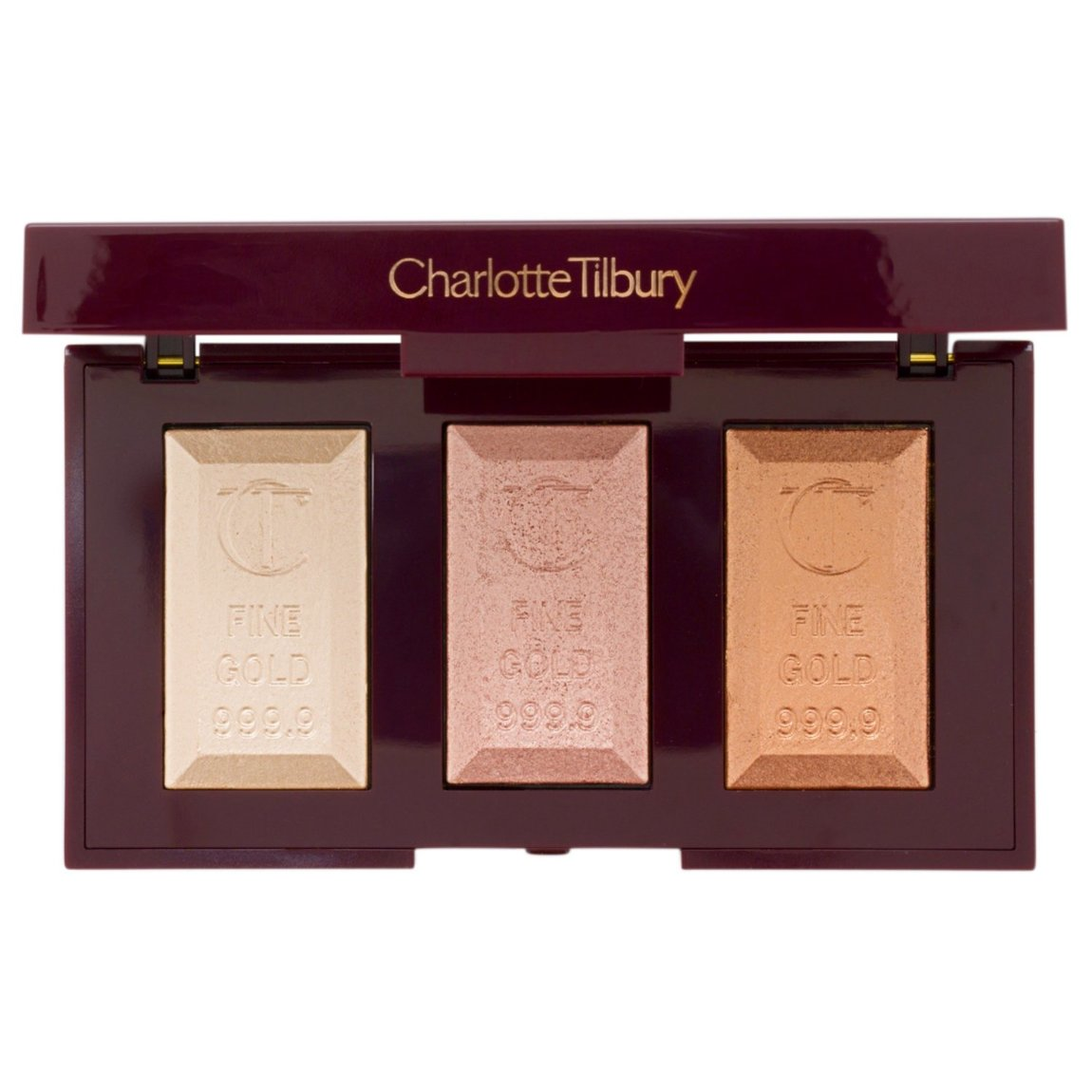 Charlotte Tilbury Bar Of Gold Palette product smear.
