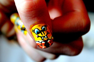 Found how to do this nails on youtube :)