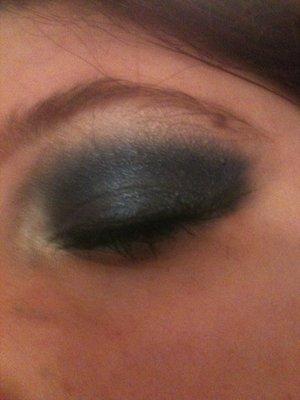 sugarpill bluish peacock with Kat Von D memento Mori palette