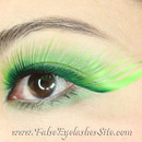 Giant Green False Eyelashes