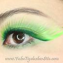 Giant Green False Eyelashes