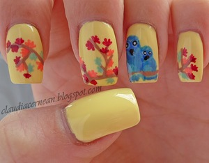 Tutorial on : http://claudiacernean.blogspot.ro/2013/11/unghii-de-toamna-autumn-nails.html