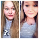 With and Without makeup.