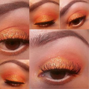 I used My Beauty Addiction Pigment in O.J. on the lid.